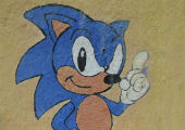 Sonic the Hedgehog and signs for money transfer.